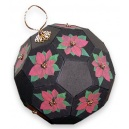 Black Beaded Poinsettia Ornament