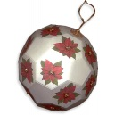 White Beaded Poinsettia Ornament