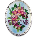 Roses Welcome Plaque
