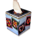 Flower Wreaths Tissue Box