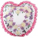 Spirea and Roses Heart Pillow